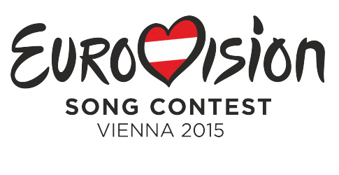 The generic logo with the Austrian flag for the 2015 contest